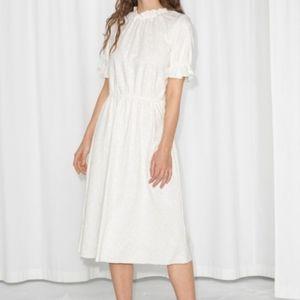 & Other Stories white emborderied dress